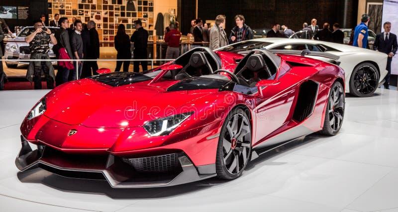 Genève Motorshow 2012 - Lamborghini Aventador J royalty-vrije stock foto