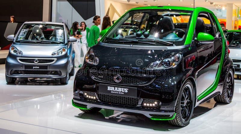 Genève Motorshow 2012 - Slimme Auto Brabus stock afbeeldingen