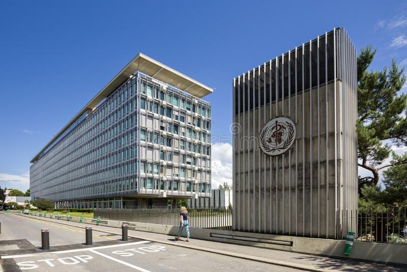 Genève Zwitserland de Wereldgezondheidsorganisatie stock foto's