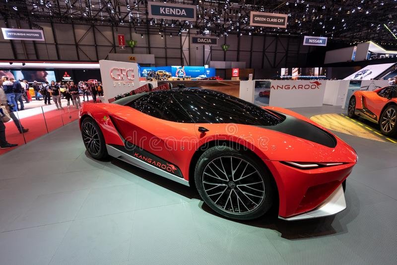 GENÈVE, ZWITSERLAND - MAART 10, 2019: Weergeven van de Internationale de Motorshow van 89ste Genève royalty-vrije stock foto's