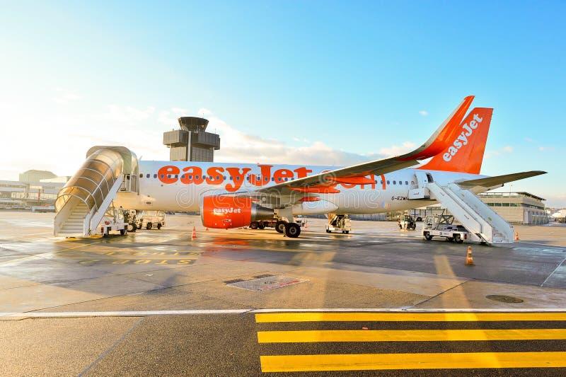 Genèveflygplats royaltyfri fotografi