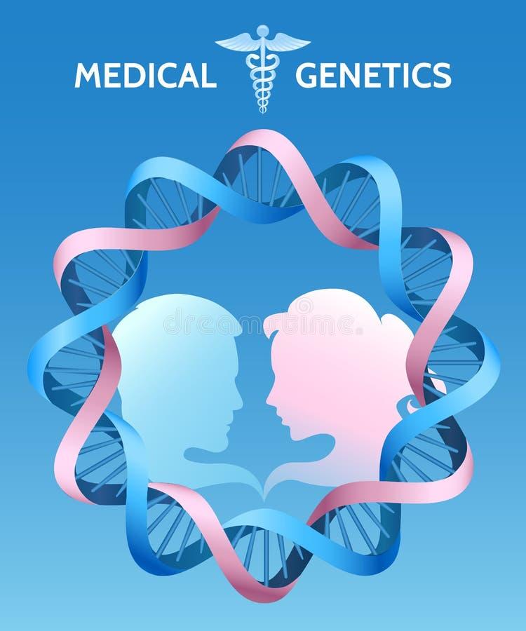 A genética da medicina ilustração stock
