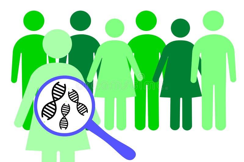 Genética de población stock de ilustración