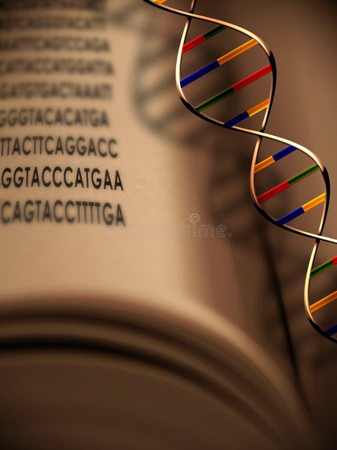 Genética y DNA el libro de la vida stock de ilustración