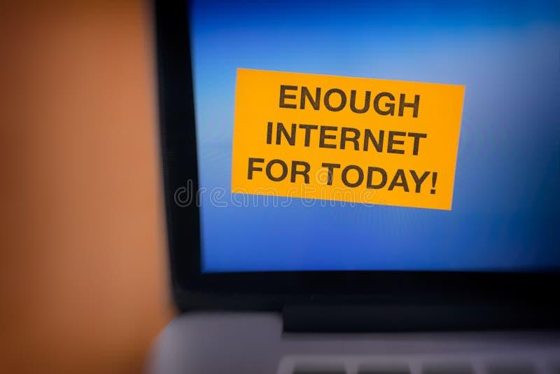 Genügend Internet für heute! stockbild