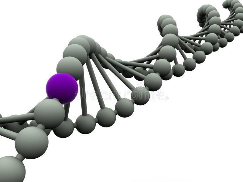 Gen in DNA lizenzfreies stockbild