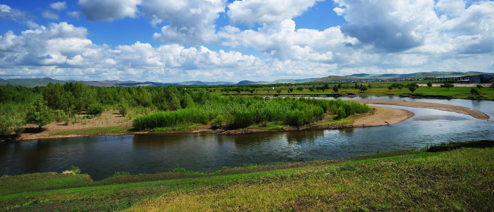 Download Gen River, Mongolia Province, China Stock Image - Image: 24826709