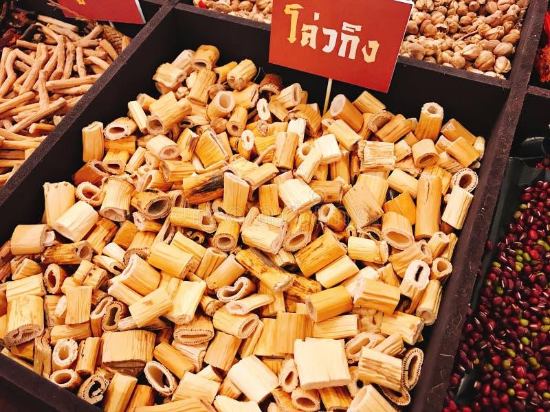 Gen secado do Lu ou rizoma de Reed ou phragmitis de Rhizoma imagens de stock royalty free