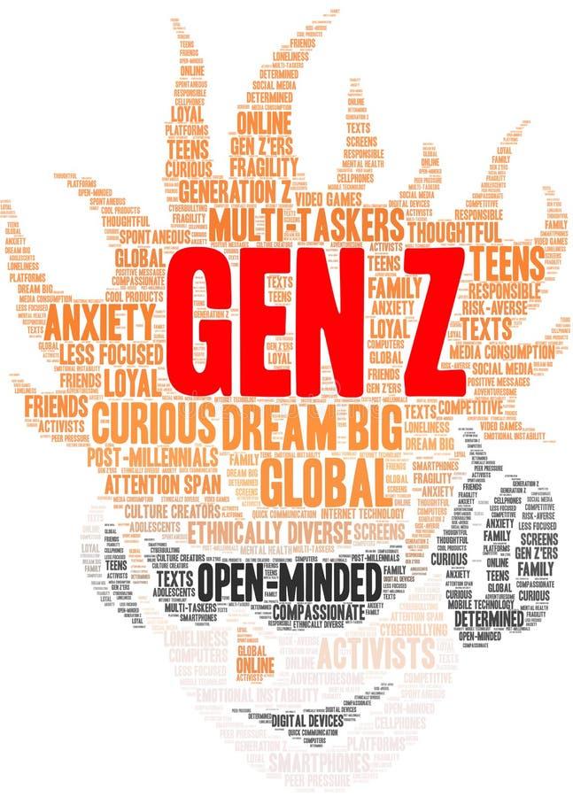 GEN Z Word Cloud illustration de vecteur