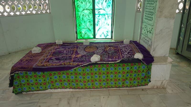 Of Gen. Zia Ul Haq. Shaheeh Zia Ul Haq Maqbara. Faisal Masjid royalty free stock photo