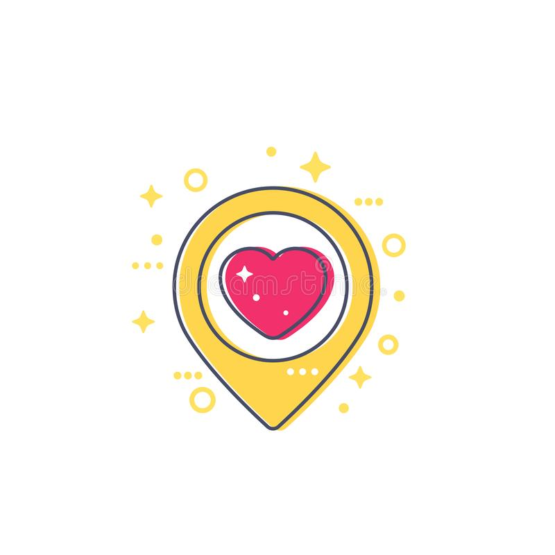 Genauigkeit mit dem Herzen, Ikone datierend lizenzfreie abbildung