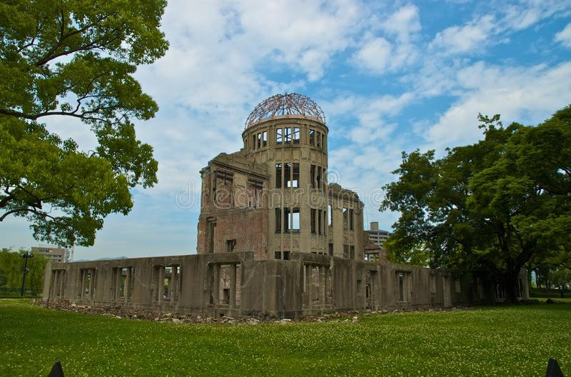Genbaku Domu (cupola) della bomba atomica, Hiroshima, Giappone fotografia stock libera da diritti