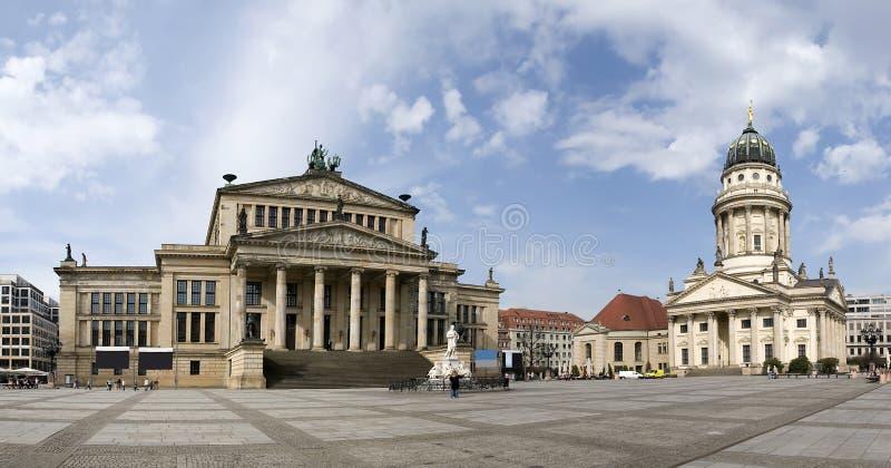 Gendarmenmarkt in berlin. Gendarmenmarkt panorama in berlin on a beautiful sunny day royalty free stock image