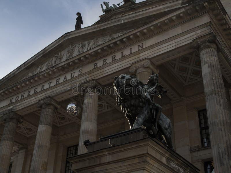 Gendarmenmarkt Konzerthaus lion stock photos