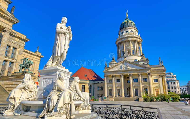 Gendarmenmarkt square in Berlin, Germany. The Gendarmenmarkt square in Berlin, Germany which houses the Berlin Concert Hall Konzerthaus and the French and German stock photography