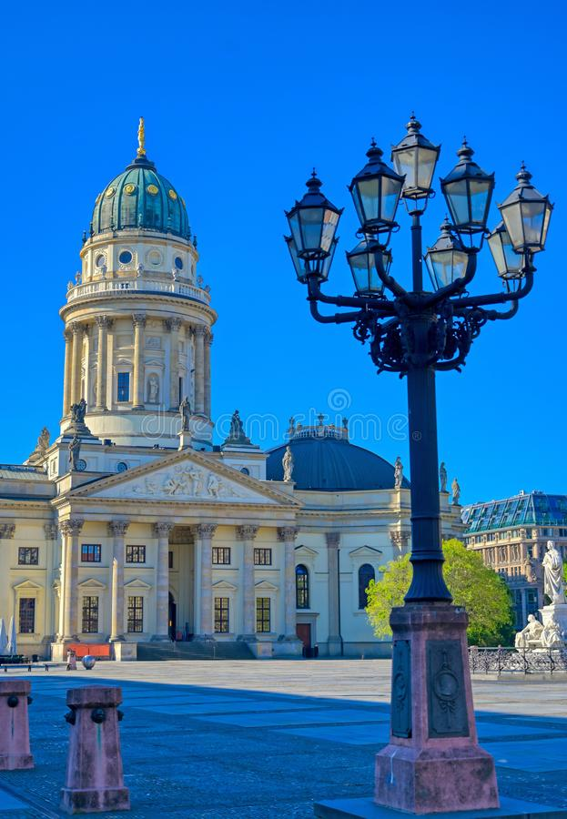 Gendarmenmarkt square in Berlin, Germany. The Gendarmenmarkt square in Berlin, Germany which houses the Berlin Concert Hall Konzerthaus and the French and German royalty free stock photos