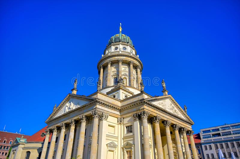 Gendarmenmarkt square in Berlin, Germany. The Gendarmenmarkt square in Berlin, Germany which houses the Berlin Concert Hall Konzerthaus and the French and German stock photo