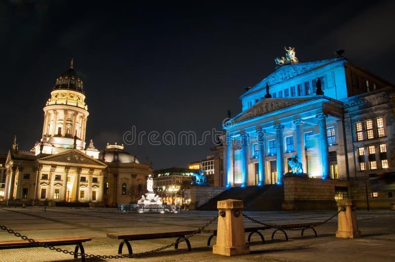 Gendarmenmarkt square. At night in Berlin stock image