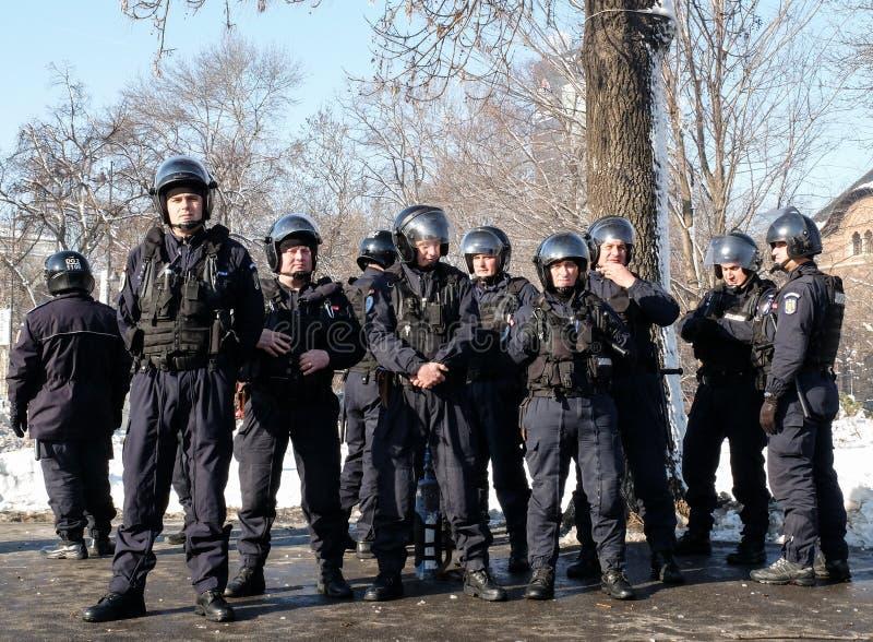 Gendarmes romenos imagem de stock royalty free
