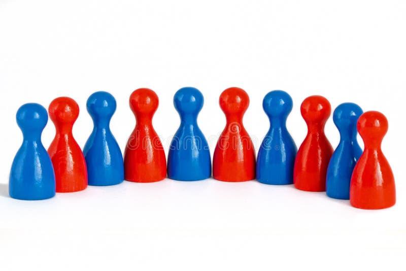 Gender balanced team stock photo