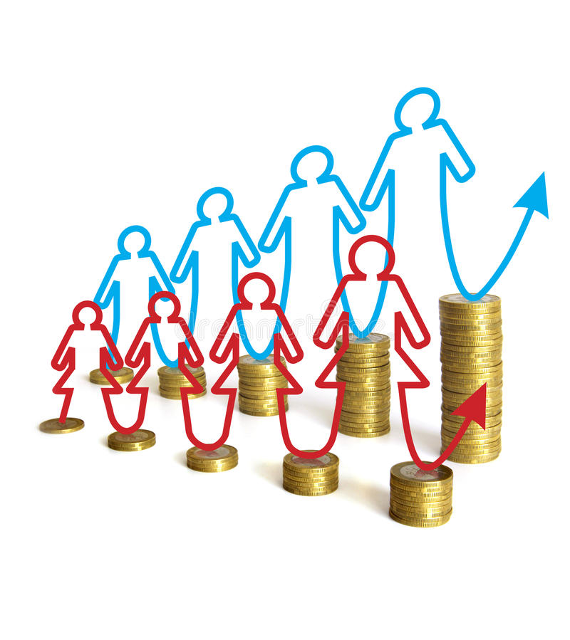 Download Gender Differences In Salaries Stock Illustration - Image: 27120461