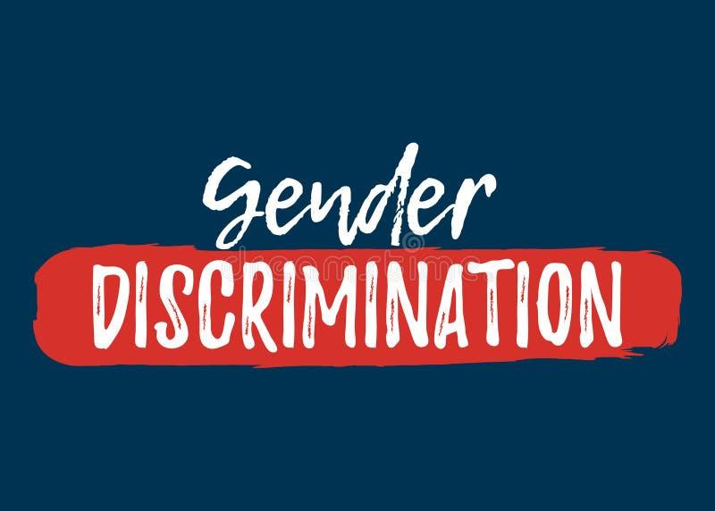 Gender Discrimination label. Font with Brush. Equal Rights. Badges. Vector illustration icon vector illustration