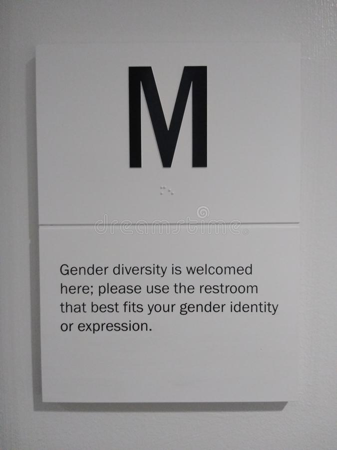 Gender Diversity, Public Restroom, Bathroom, Identity, Expression royalty free stock photo