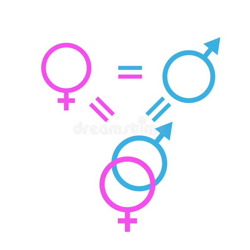 Gender eqgender equity symbol, iconuity symbol, icon royalty free stock photo
