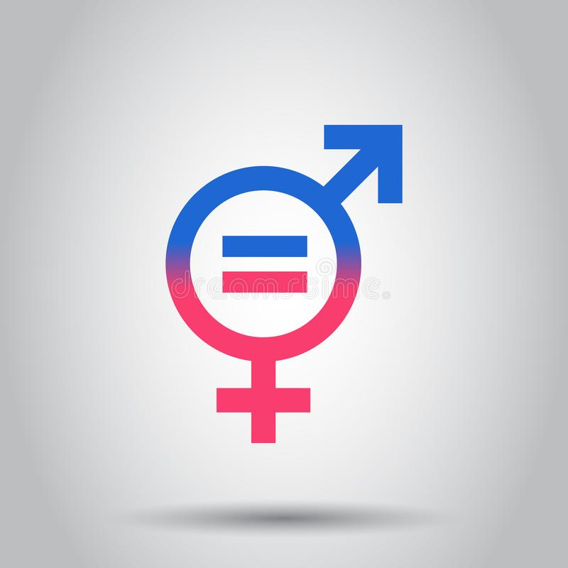 Gender equal icon. Vector illustration on isolated background. B. Usiness concept men and women pictogram royalty free illustration