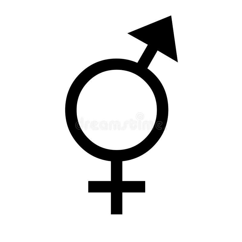 Gender equal sign silhouette vector illustration