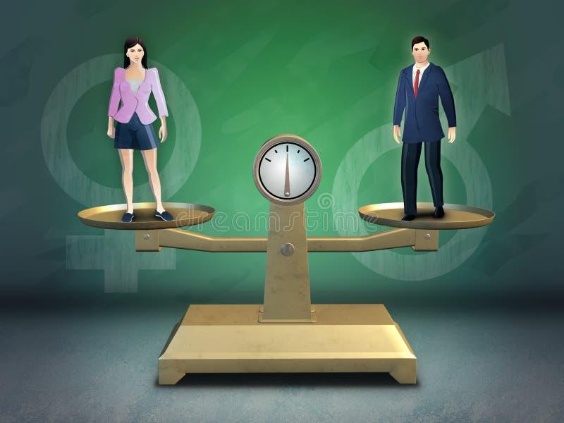 Gender equality stock illustration
