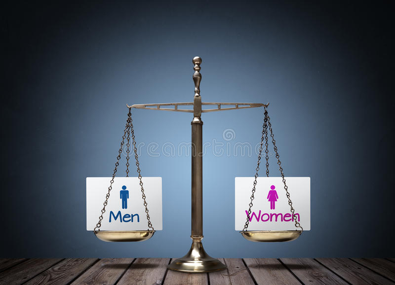 Gender equality royalty free stock images