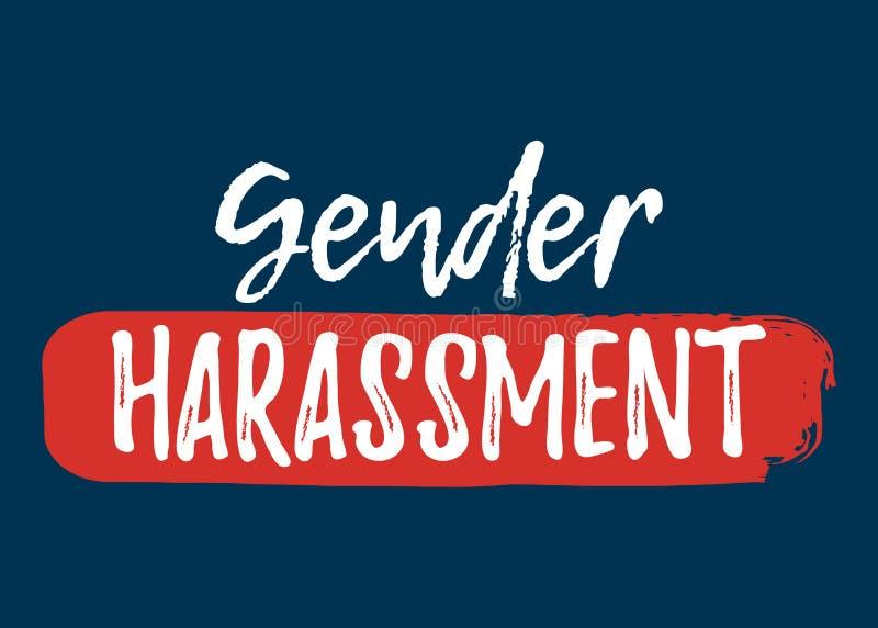 Gender Harassment label. Font with Brush. Equal Rights. Badges. Vector illustration icon stock illustration