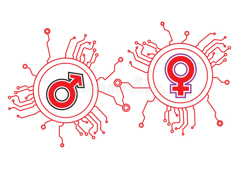 Download Gender Icon Circuit stock vector. Image of equipment - 15635635