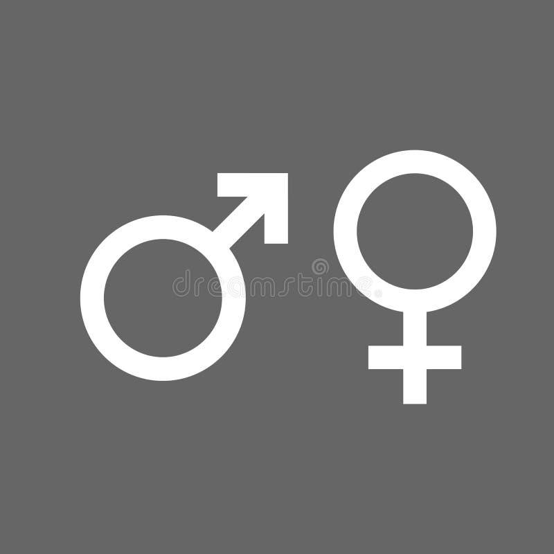 Free Gender Icon. Female, Male Symbol. Vector Illustration, Flat Design. Stock Photo - 130096960