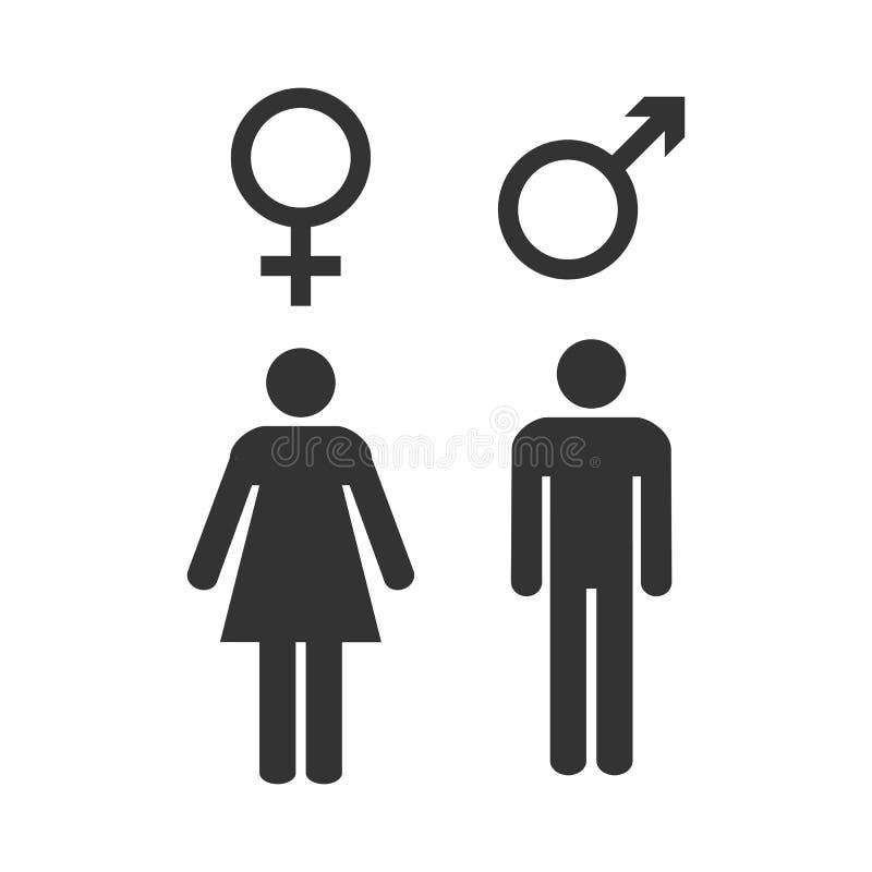 Free Gender Icon. Female, Male Symbol. Vector Illustration, Flat Design. Royalty Free Stock Photos - 130097278