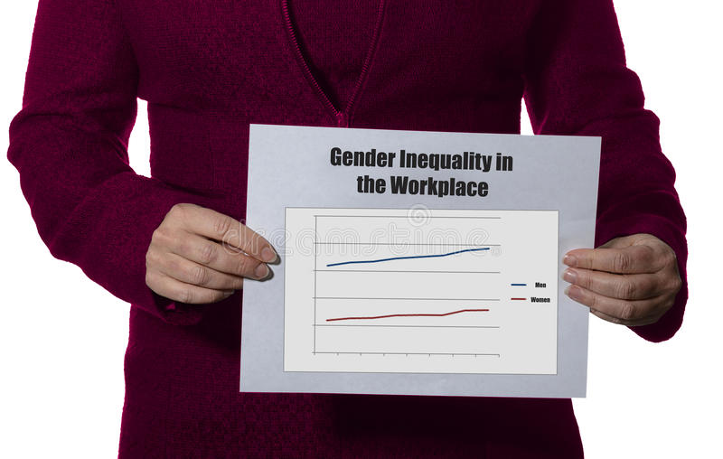 gender inequality in the workplace stock photo image