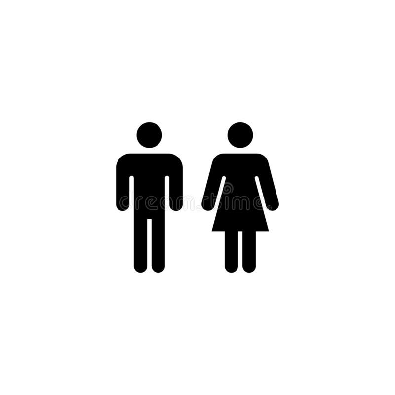 Gender, man and woman icon stock illustration