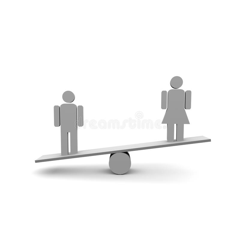 Download Gender stock illustration. Illustration of people, scales - 31796557