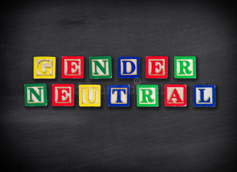 Gender neutral concept. On blackboard stock image