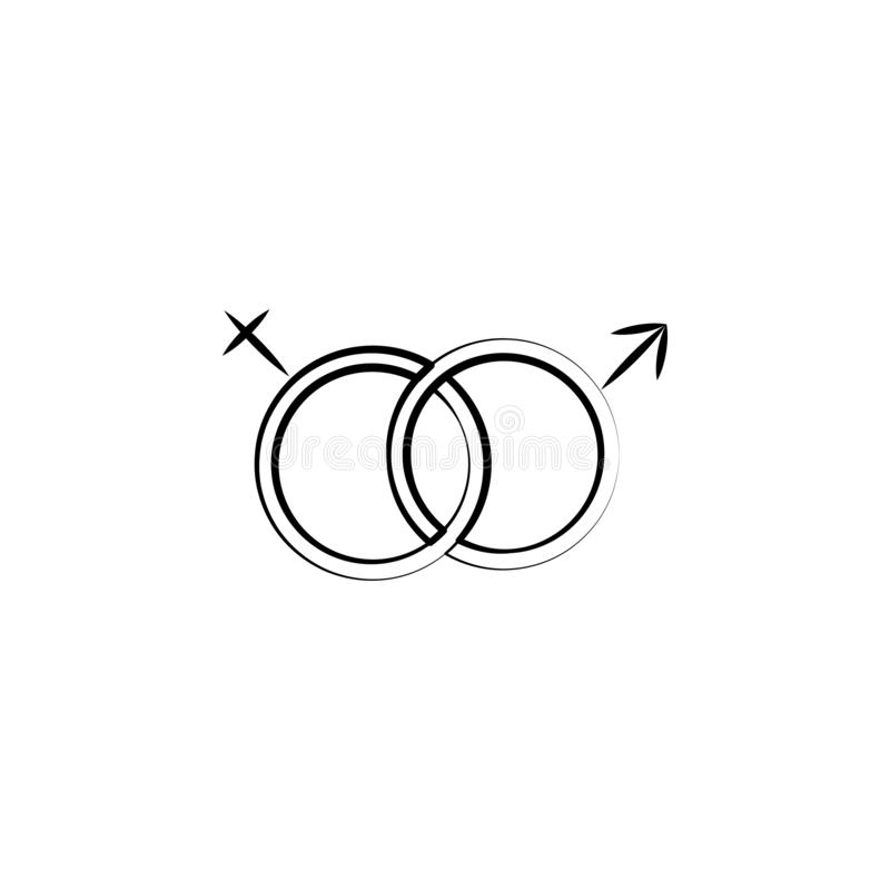 Gender sex concept line icon. Simple element illustration. Gender sex concept outline symbol design from Motherhood set. Can be us vector illustration