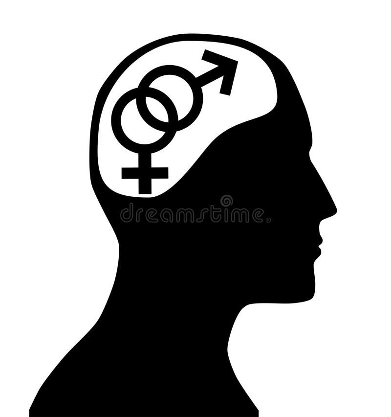 Gender sign in mind stock image