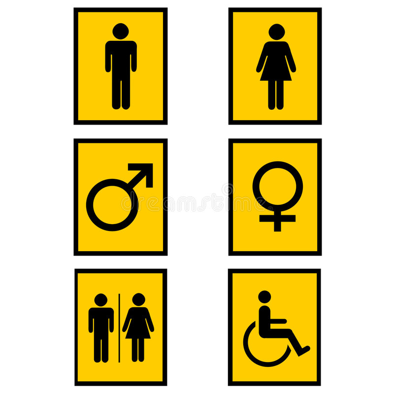 Gender signs royalty free illustration