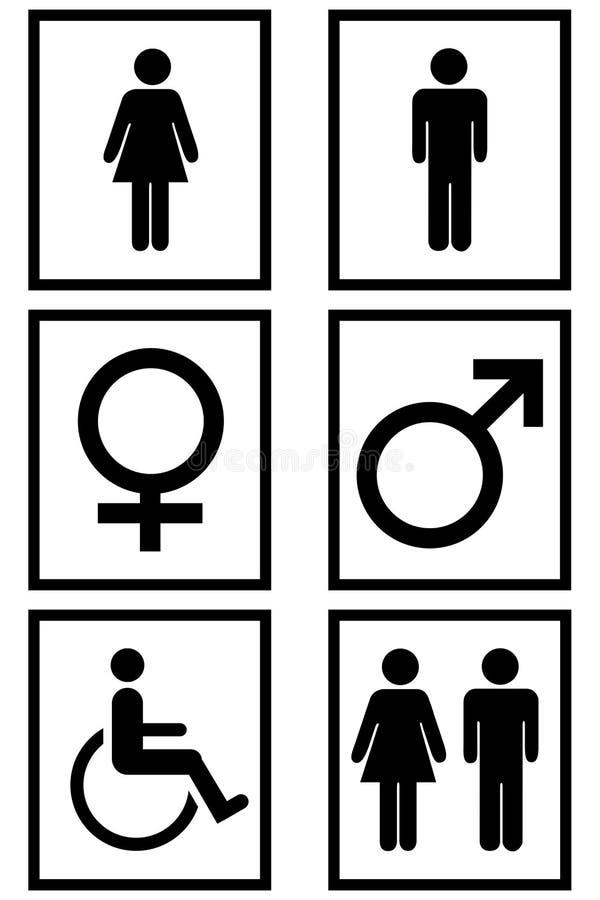 Gender Signs stock illustration