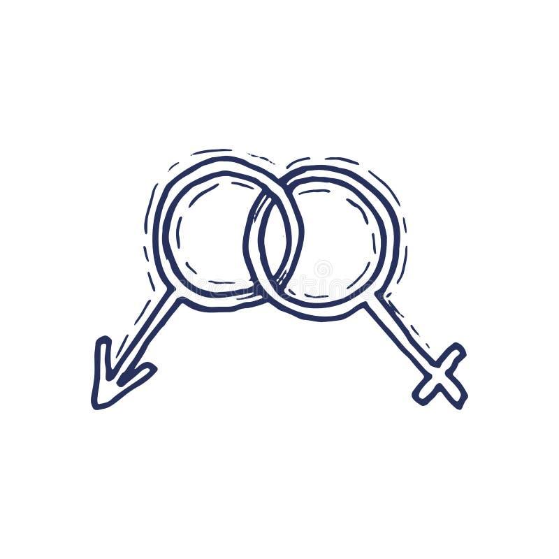 Gender Symbol Symbols Of Men And Women Stock Vector Illustration