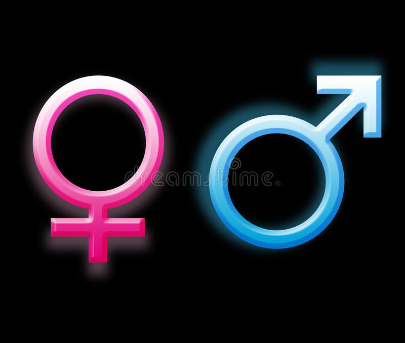 Download Gender symbols stock illustration. Illustration of shaped - 10302683