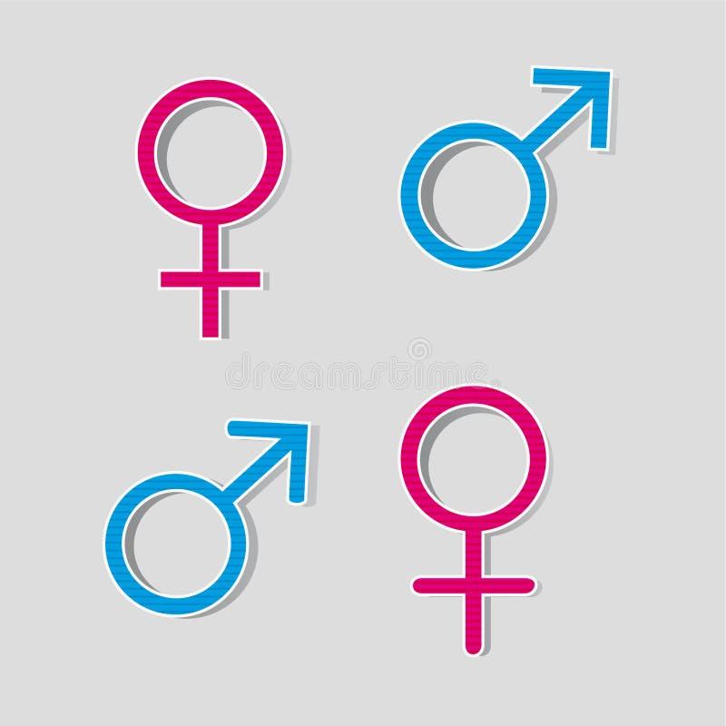 Gender Symbols Stock Vector Illustration Of Feminine 45958441
