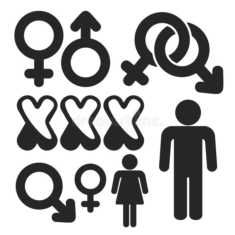 Gender Web And Mobile Icons Set Vector Stock Vector -1704