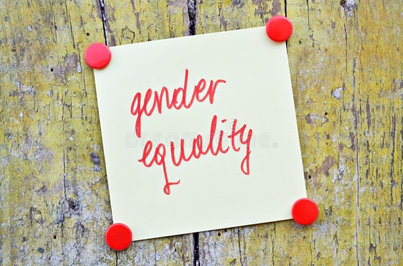 Gendergelijkheid royalty-vrije stock foto
