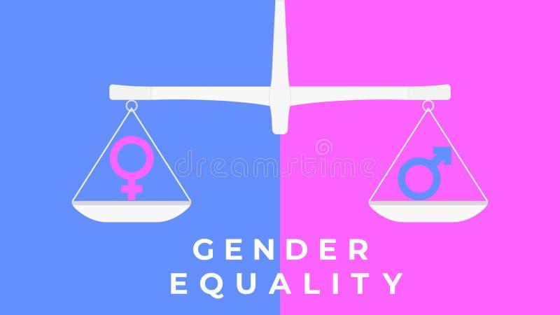 Gendergelijkheidillustratie royalty-vrije illustratie